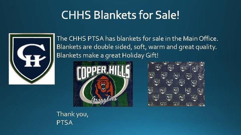 CHHS PTSA Blankets for Sale