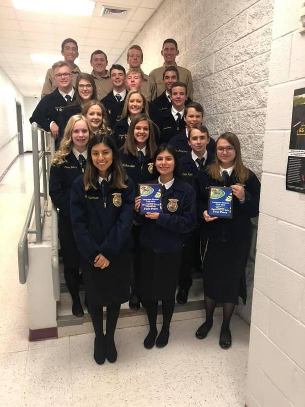 FFA Received Great Results at District Featured Photo