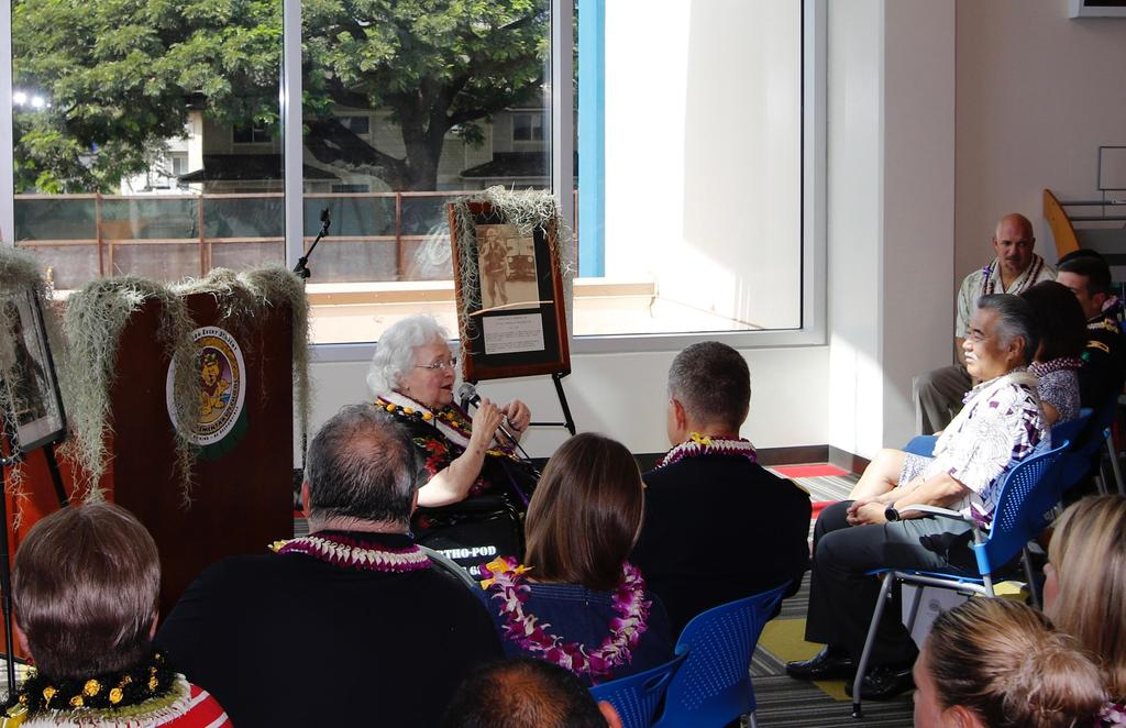 Mrs. Solomon Addresses Audience