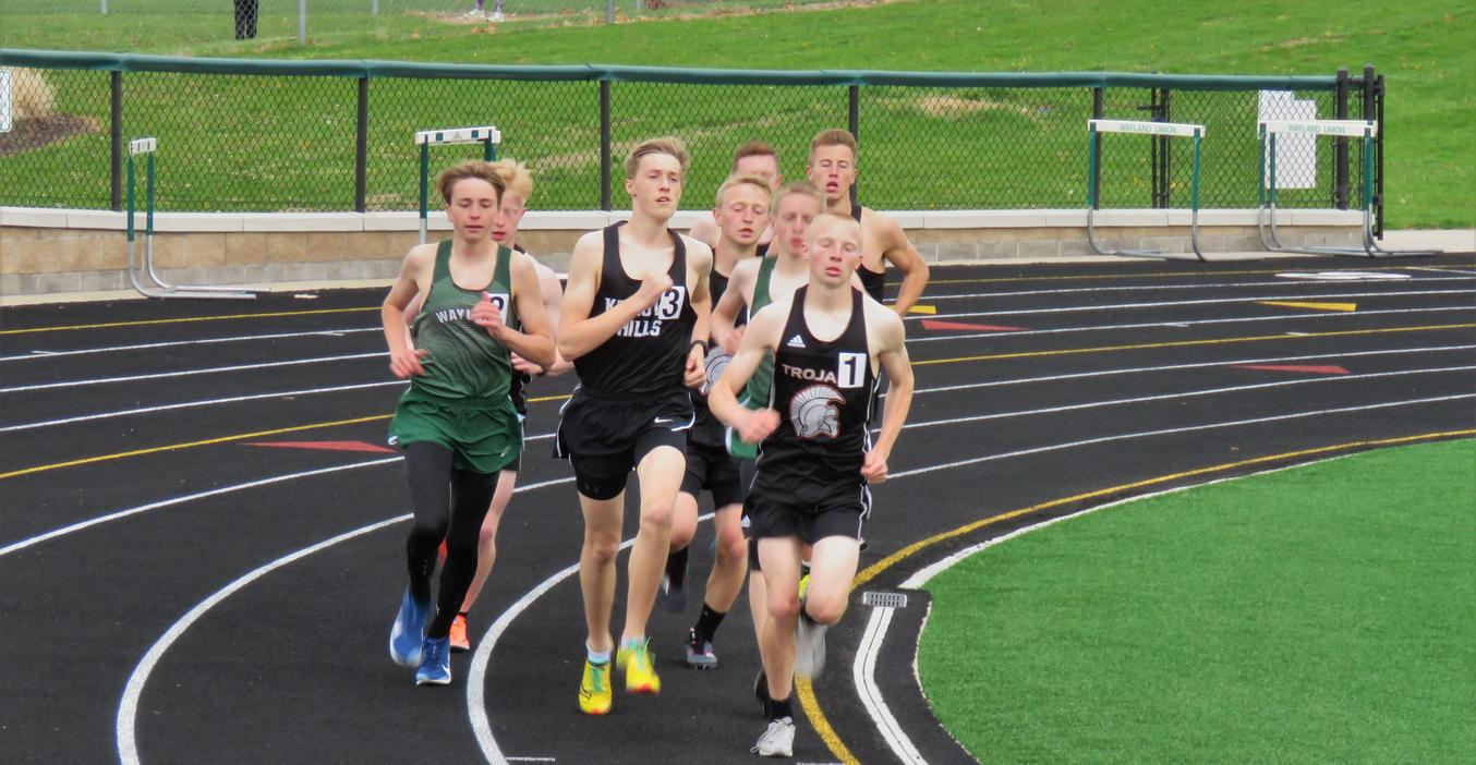 TKHS track team runner takes the lead.