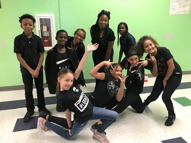 Students and teachers dressed in black for Blackout Day