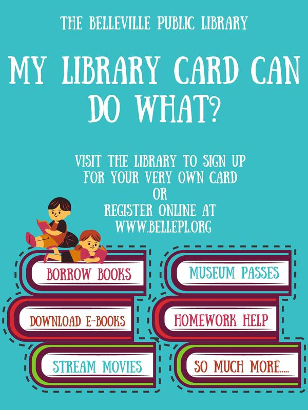 Sign up for a Belleville Public Library card! Featured Photo