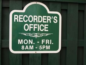 Entrance to Recorder's Office