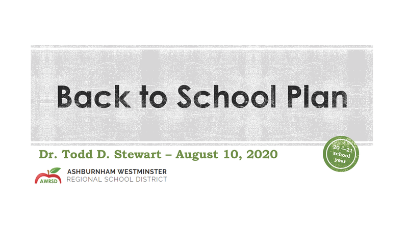 Presentation from 8/10/2020 School Committee Meeting Featured Photo