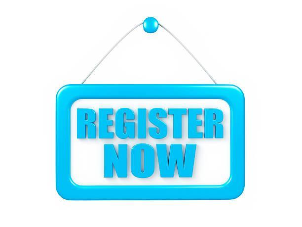 Register now sign in bright blue