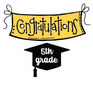 Image: Congratulations 5th Grade