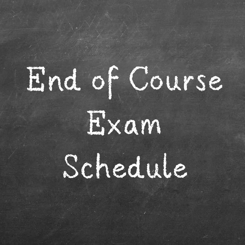 End of Course Exam Schedule Thumbnail Image