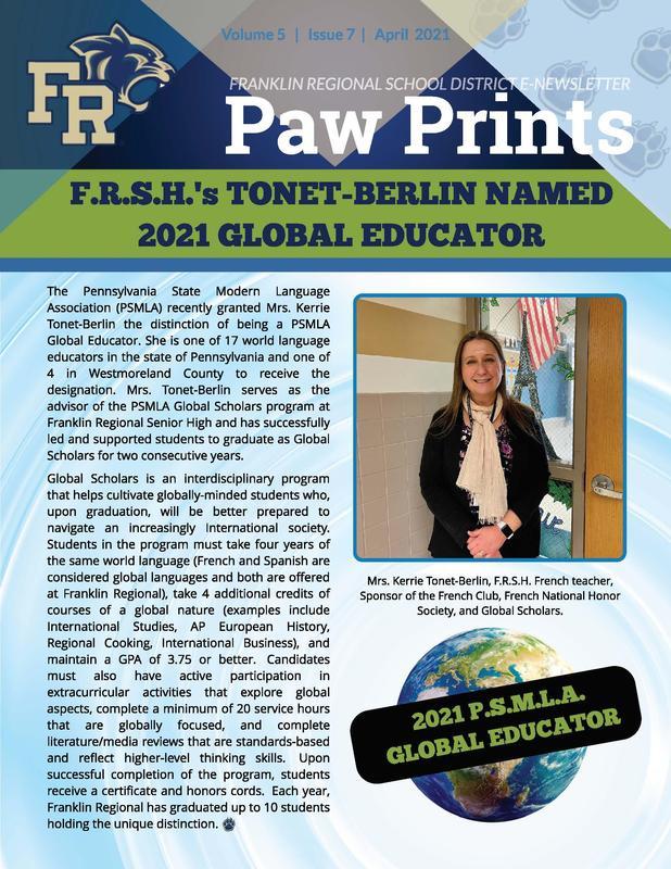 Paw Prints April 2021