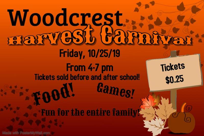 Woodcrest Carnival Oct 25th from 4-7