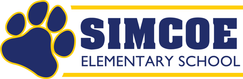 Simcoe Elementary School Logo with Wolf Paw