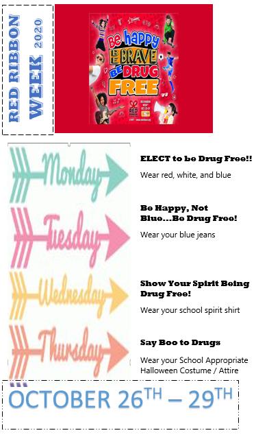 Red Ribbon Week - Oct. 26th - 29th! Thumbnail Image