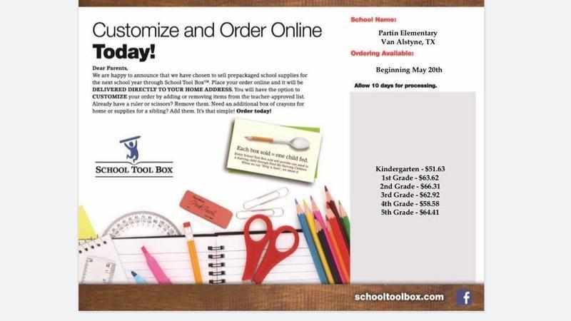 Order your School Supplies online NOW!!! Thumbnail Image