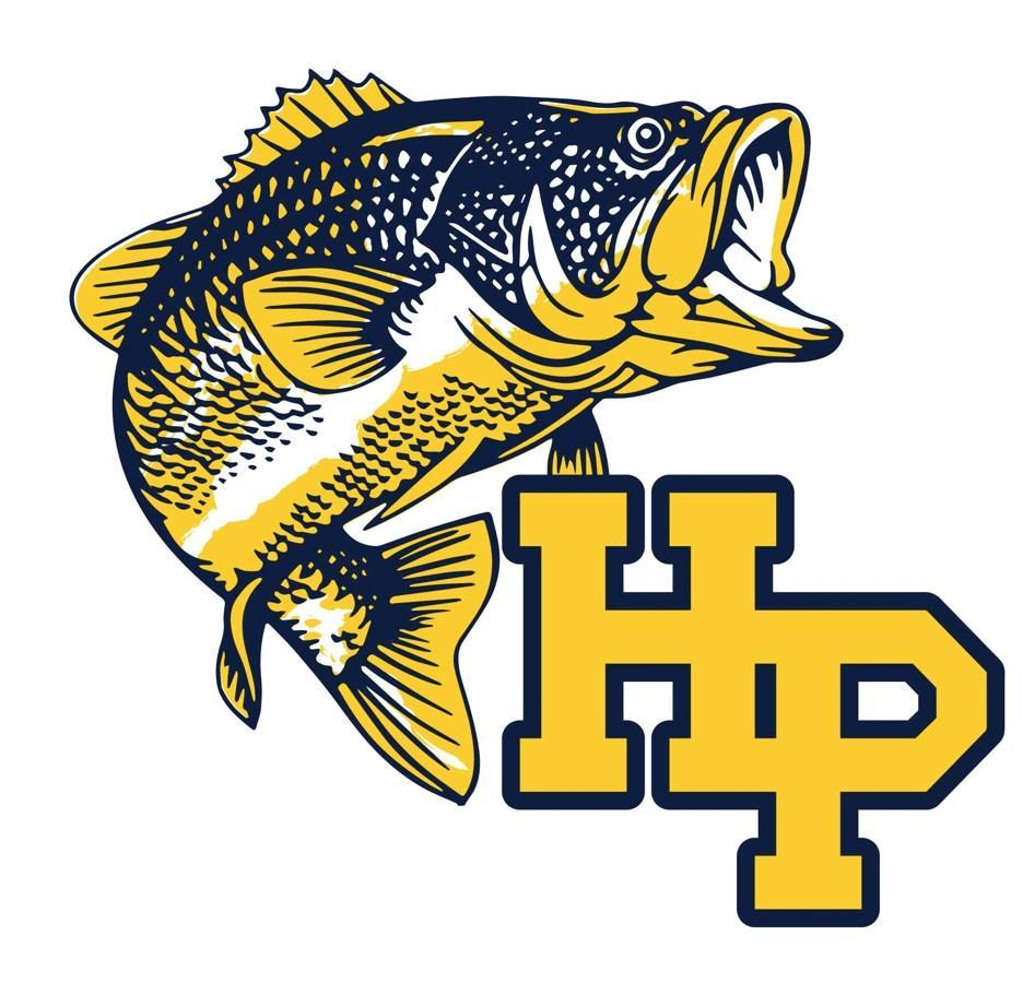 HP bass team logo with large fish
