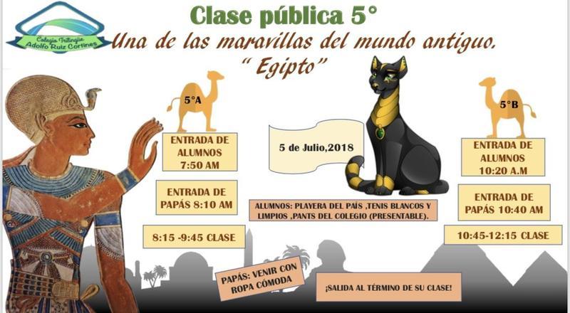 Invitación Clase Pública 5º Featured Photo