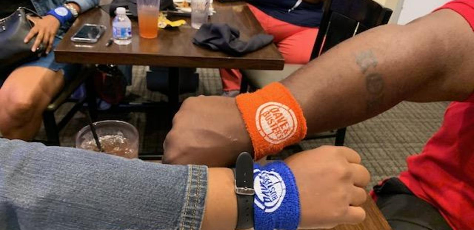 Dave & Buster's wrist bands