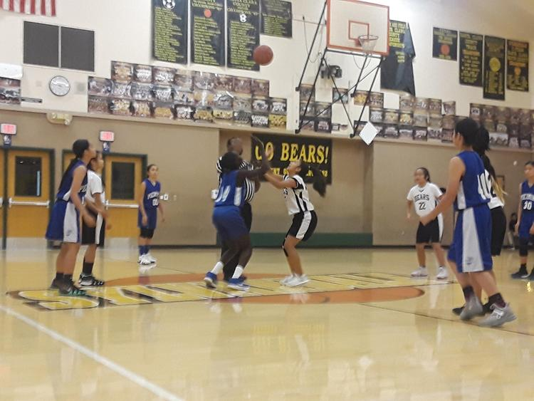 Girls Basketball in action