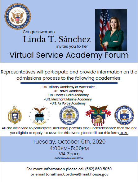 2020 Virtual Service Academy Forum Oct 6th 4-5pm must RSVP Featured Photo