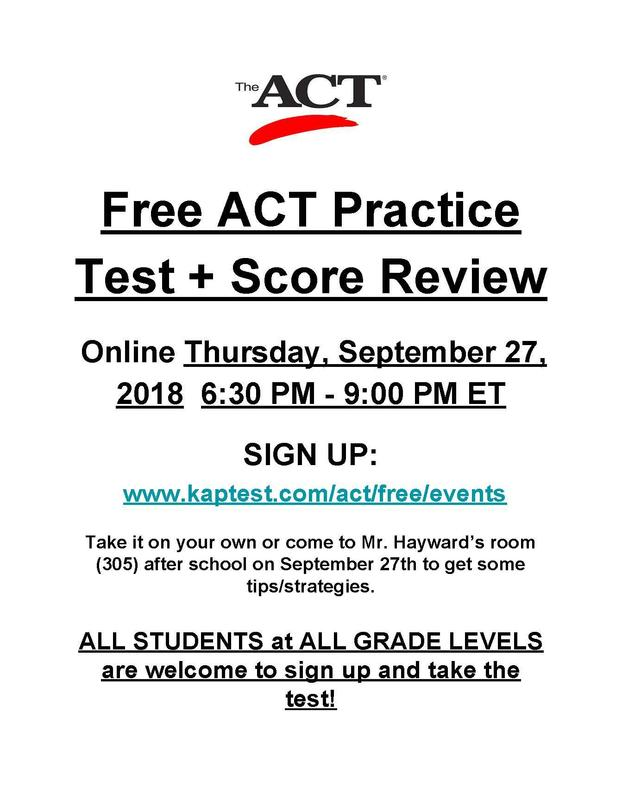 Free ACT Practice Test + Score Review Thumbnail Image