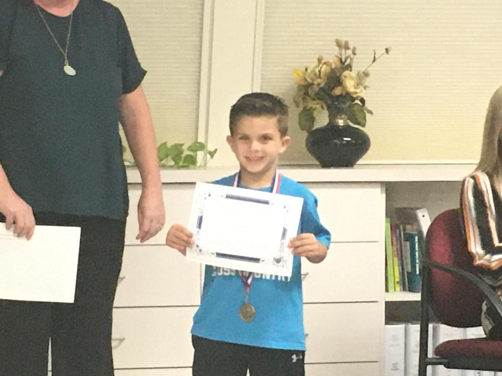 Outstanding Student Nov. 2019