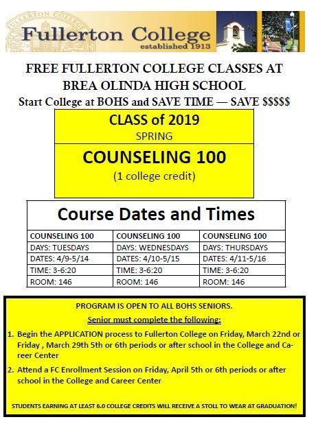 FC Counseling 100 Classes