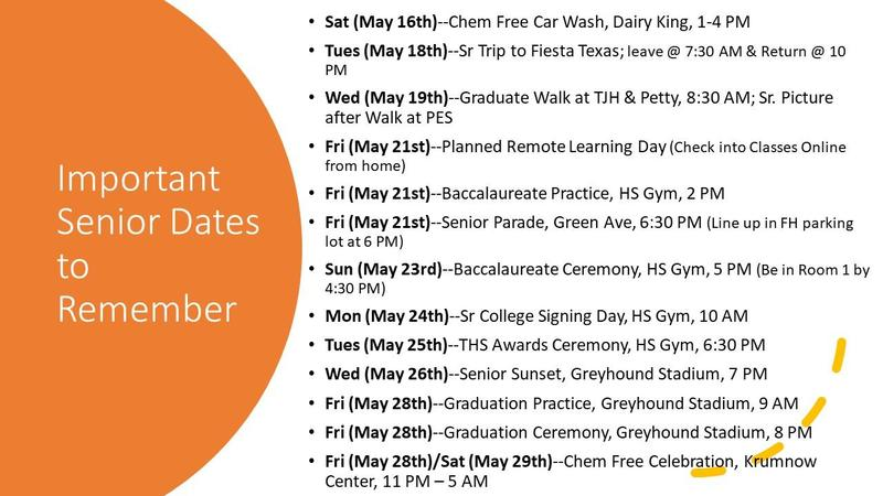 Important Dates for Seniors 2021 Featured Photo