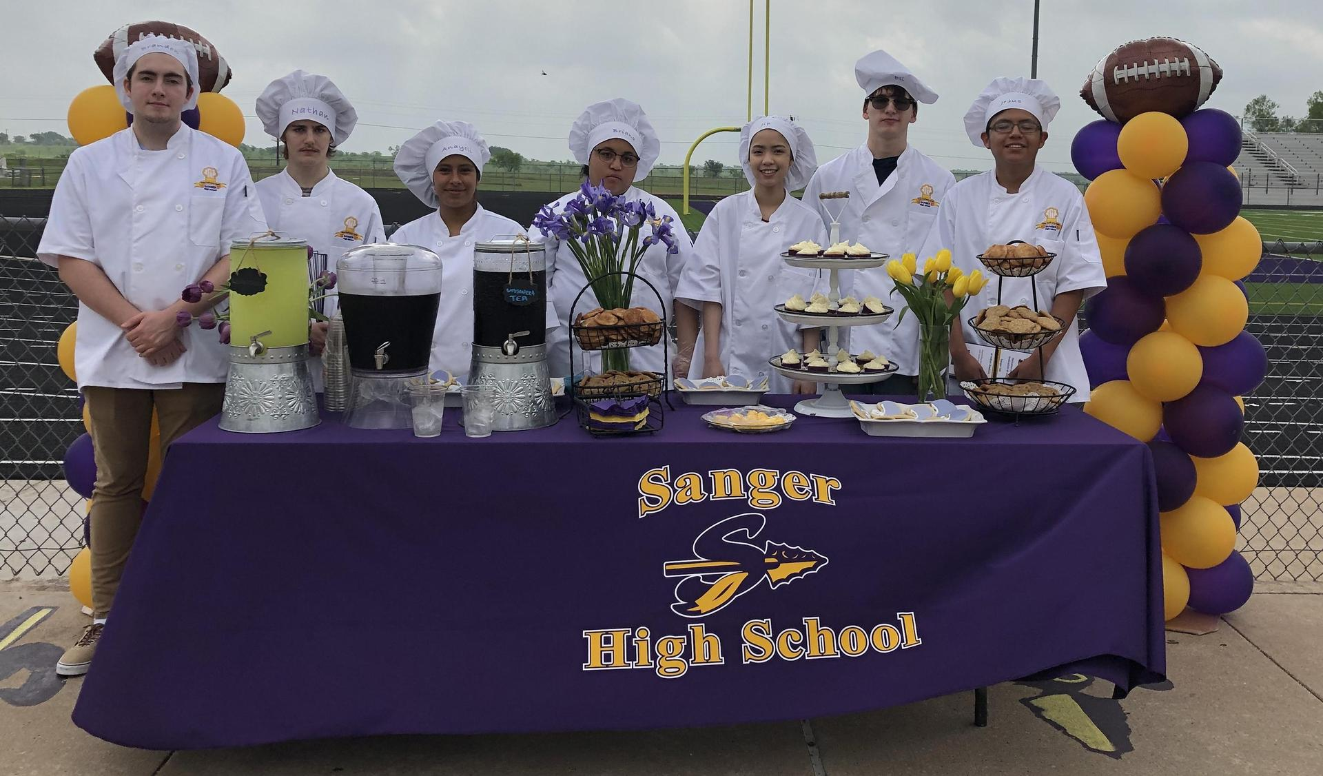 Culinary Arts students prepare & serve refreshments for the DATCU Scoreboard Presentation