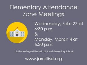 Attendance Zone meetings are scheduled for Feb. 27 and March 4