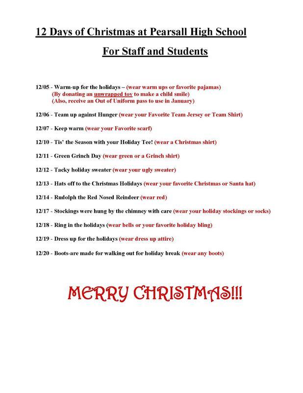 12 Days of Christmas at PHS Thumbnail Image