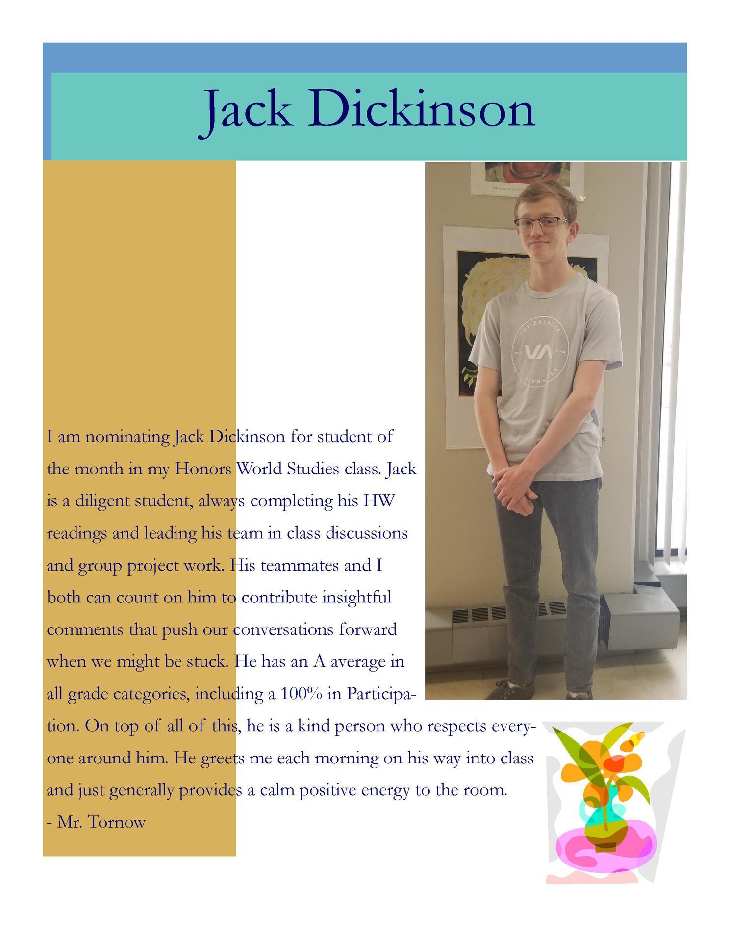 Image of Jack Dickinson