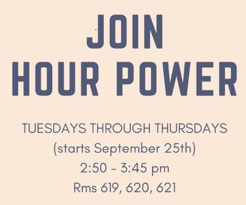 Hour Power Coming on 9/25 Featured Photo