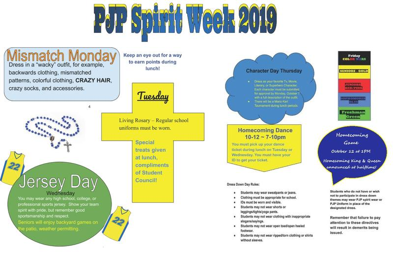 PJP FAMILIES:ARE YOU READY FOR SPIRIT WEEK 2019? Thumbnail Image