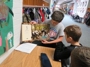 TKMS students read books about water to McFall students.