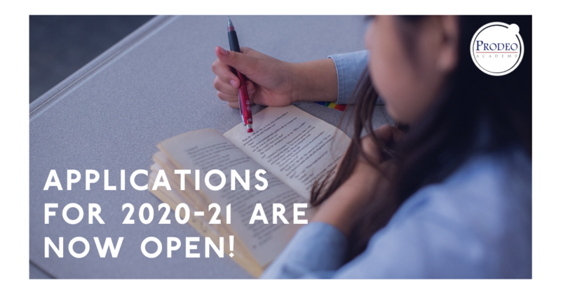 Applications for 2020-21 are now open