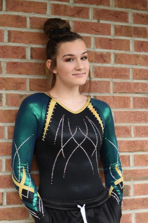 SLS gymnast in leotard