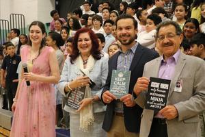 music teacher, Mrs. Diaz, Mr. Hanna & Mr. Perrigene