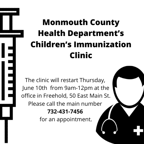 Monmouth County Health Department's Children's Immunization Clinic Featured Photo