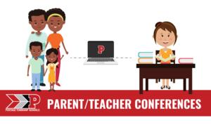 Family connected to teacher via laptop