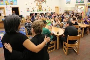 superintendent announces to staff their award