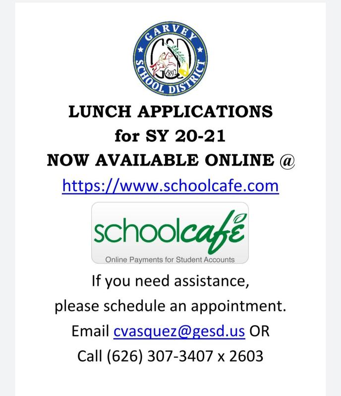 20-21 Lunch Application  (School Cafe) Thumbnail Image