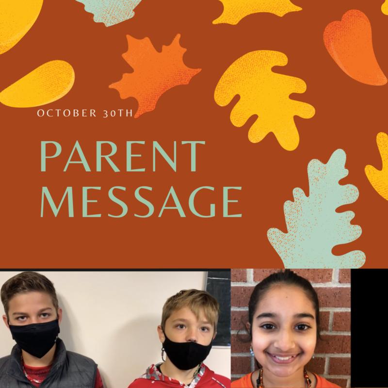 SCIS Parent Message: October 30th, 2020 Featured Photo