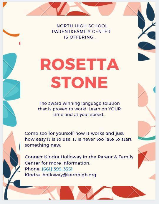 Rosetta Stone Flyer
