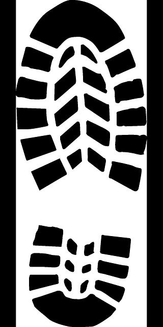 black boot print