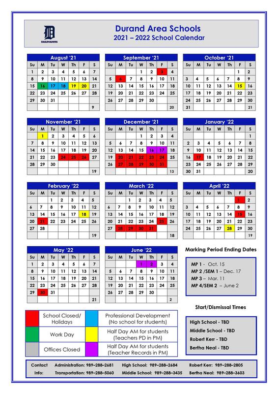 2021/2022 School Calendar Featured Photo