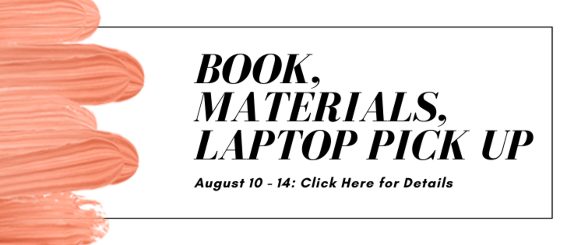 materials pick up aug 10-14