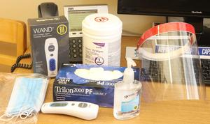 Edinburg CISD purchases approximately $1.2 million for hundreds of thousands of PPE and other supplies, including some of these items pictured.