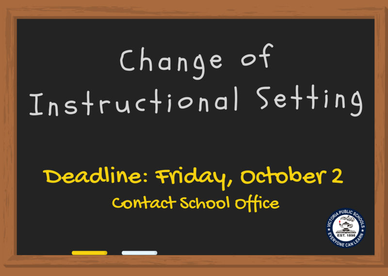 change of instructional setting