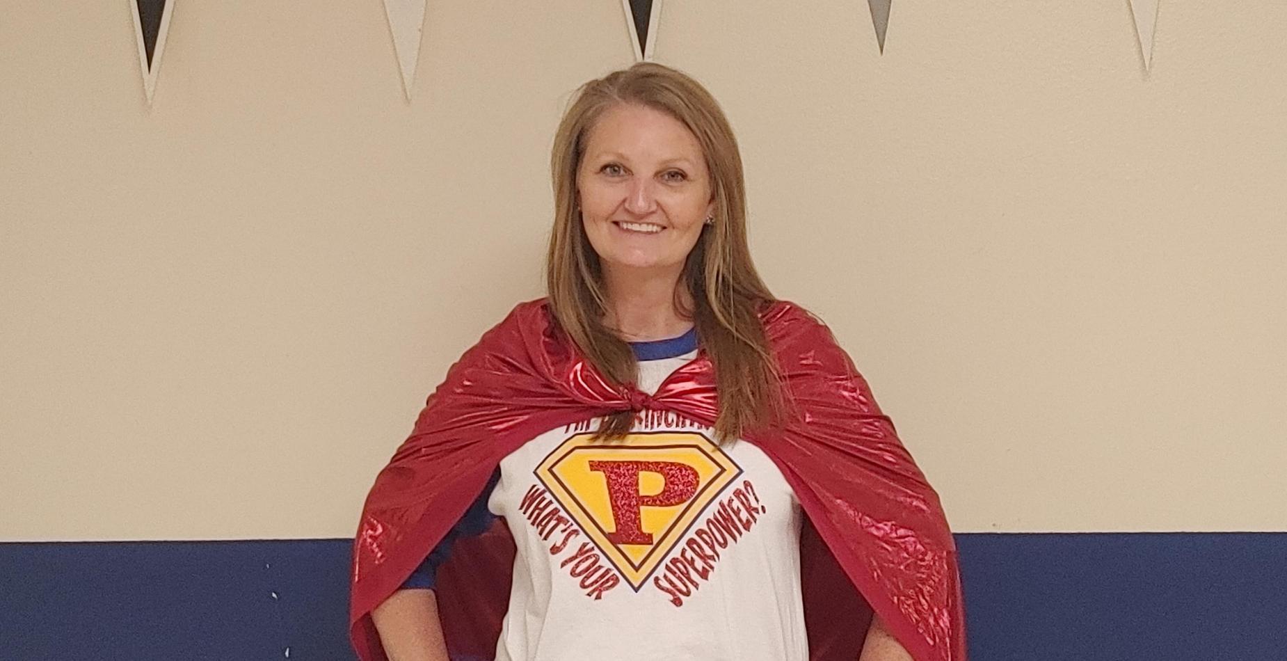 Principal celebrating homecoming week