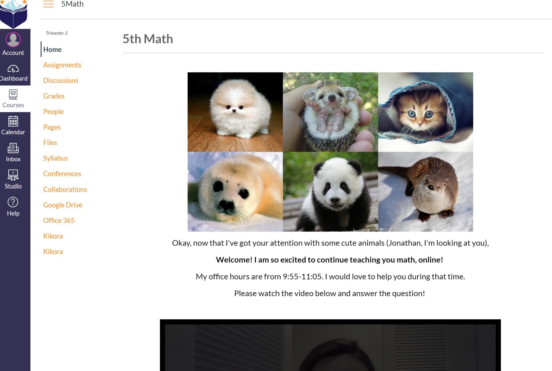 5th Math Homepage