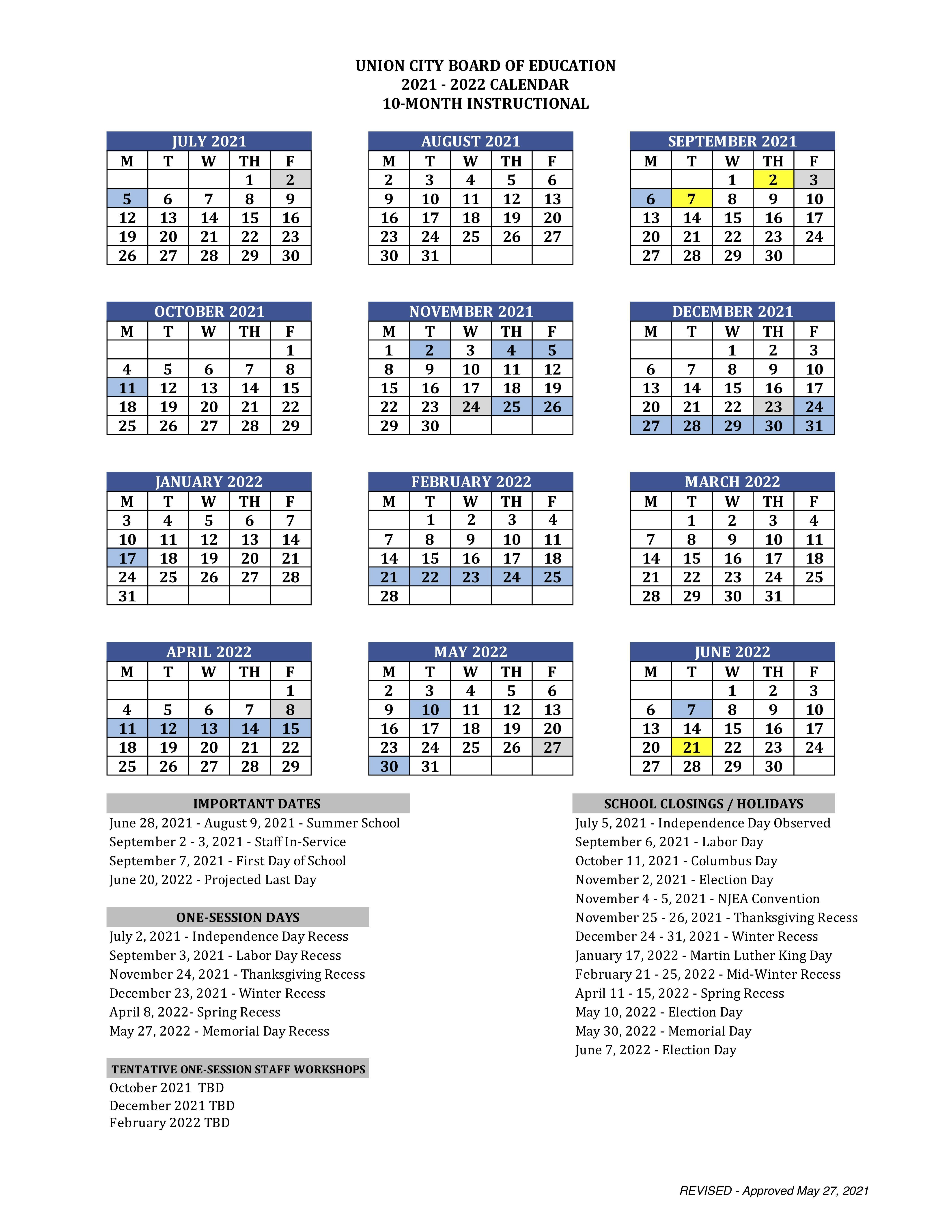 21-22 10 month calendar