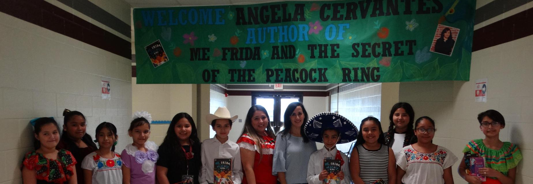 Reading Rock Stars Author Angela Cervantes with 5th graders